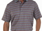 Carnoustie men's Performance striped polo.  Photo courtesy of Carnoustie.