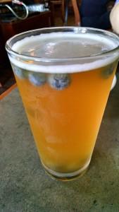 Jamesport Brewery's Blueberry Wheat Beer (P. Bairley photo)