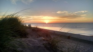 Lake Michigan sunset in Ludington. Photo by Paul Bairley.