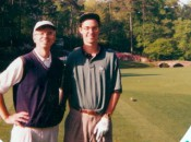 Moore and Whitmer at Augusta National's 12th hole, 1995
