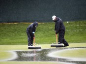 A A squeegee crew battled the elements at the '09 U.S. Open at Bethpage