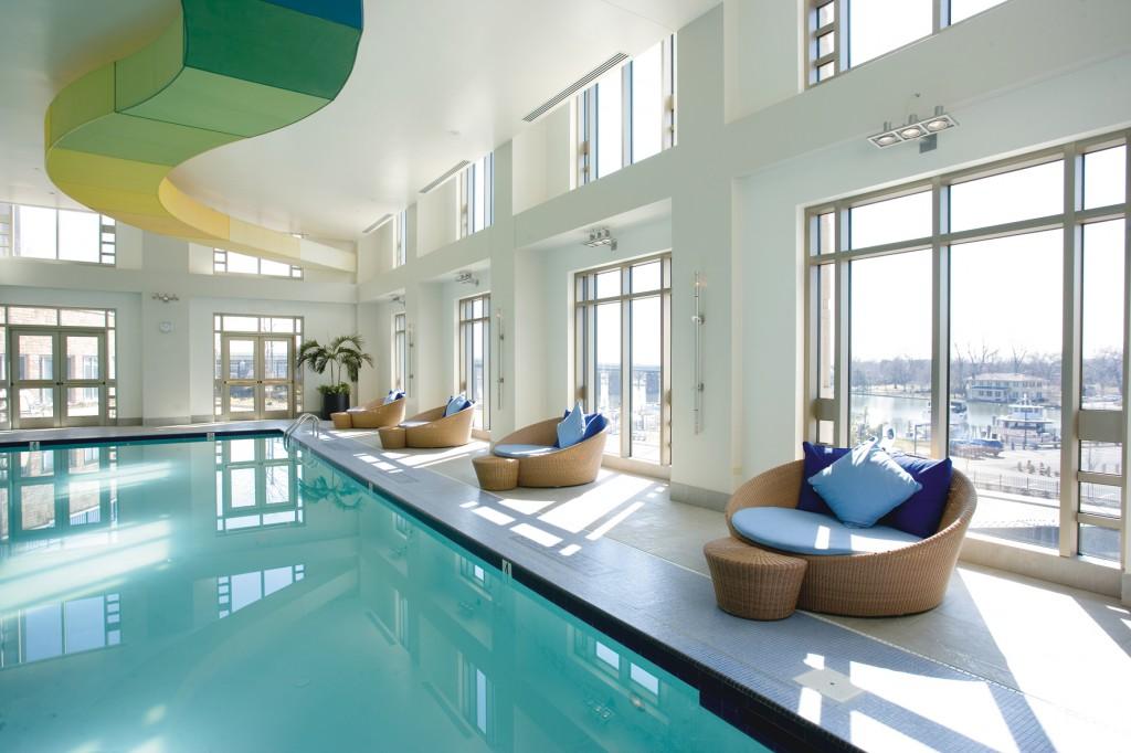 Lap of luxury: Mandarin's 50'  swimming pool