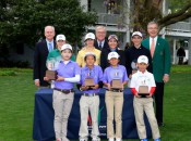 The winners of the Drive, Chip & Putt Finals