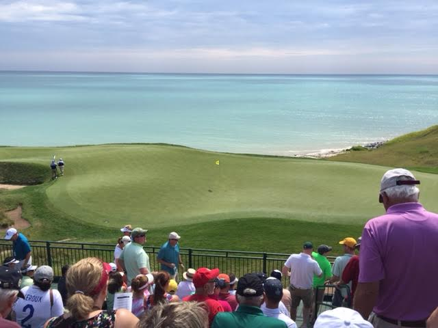 The par-three 12th hole has a majestic view