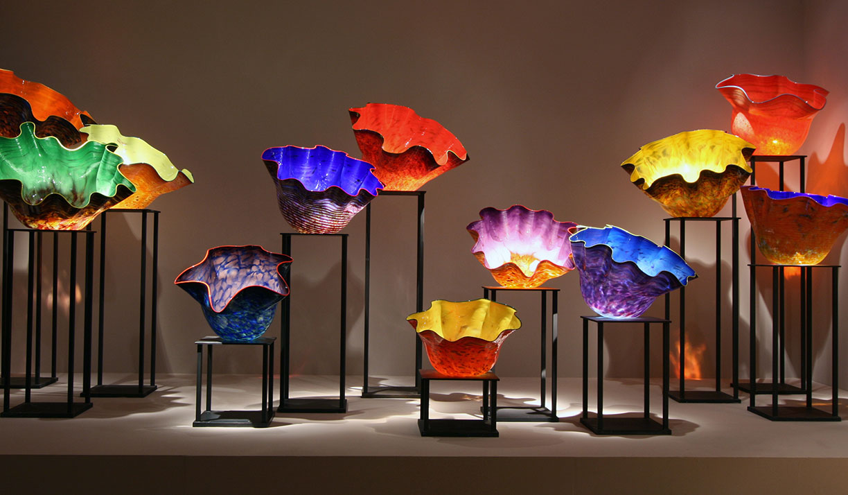 Chiluly glass art abounds at the OKCMOA