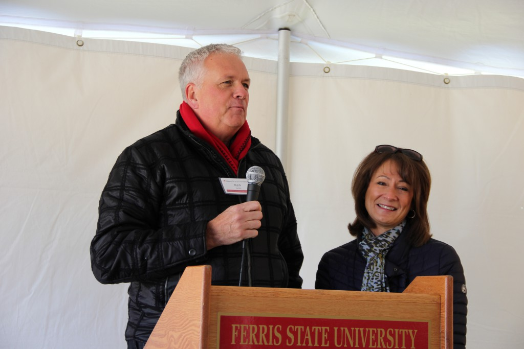 Kim & Ken Janke Jr. at the Groundbreaking