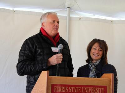 Kim & Ken Janke Jr. at the Groundbreaking Ceremony