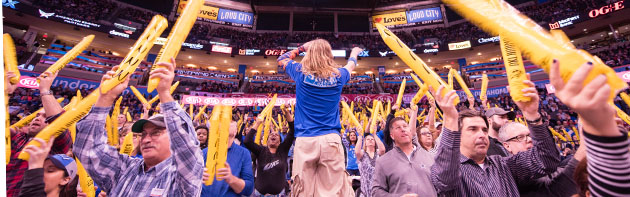 Thunder fans are loyal and loud