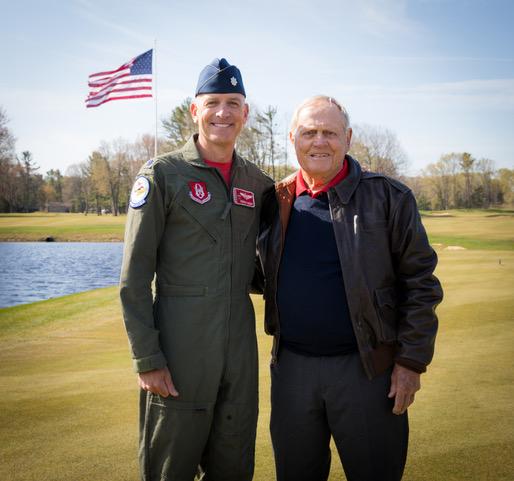 Lt. Col Dan Rooney and Jack Nicklaus