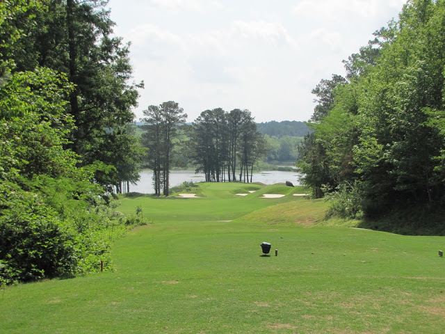 The drivable par-4 17th is a delicious and dangerous hole.