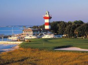 The iconic setting of Harbour Town's 18th.