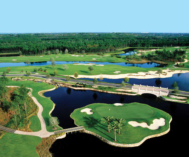 Tom Watson threw in everything, including an island green, into the Conservatory Course at Hammock Beach.