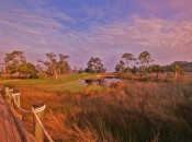 Four of The Hampton Club's holes are build on an island in the middle of a vast tidal marsh.