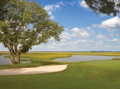 Oak Marsh's secon nine finishes with three gorgeous holes along the marshy Amelia River.