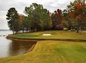 The frightening second shot into the 5th green (photo from Blair Howard at about.com)