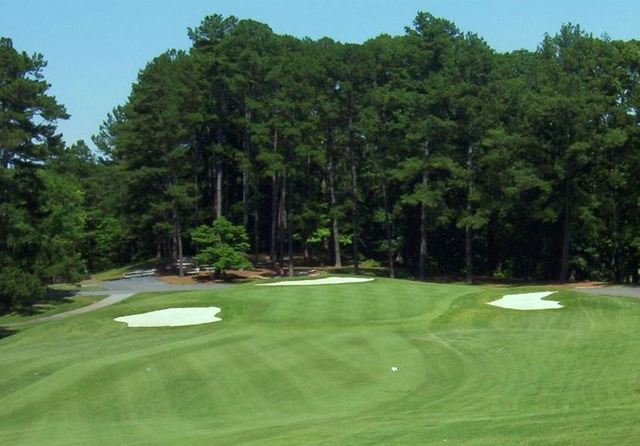 The 18th green shows the simple elegance of Atlanta's Mystery Valley.