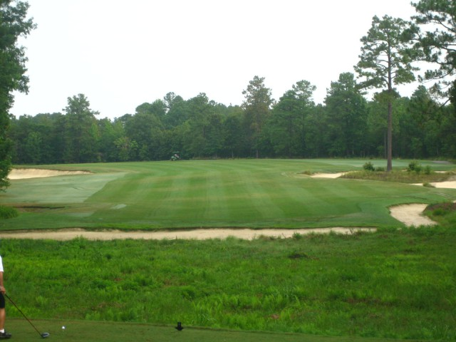 There's over an acre and a half of wide open fairway at the par-5 4th...