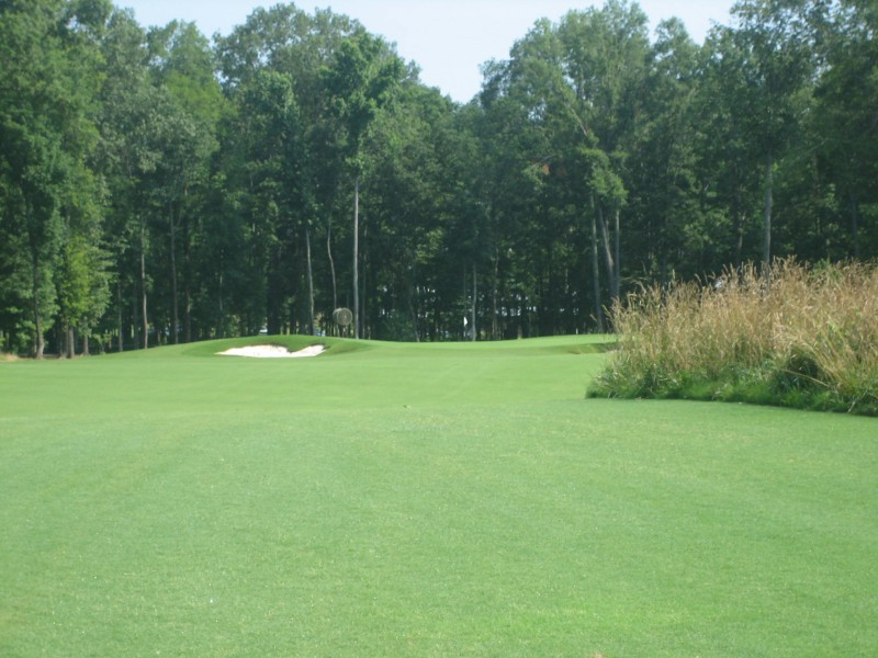 Many of the fairways slide seamlessly into the putting surfaces, like here at the par-5 first.