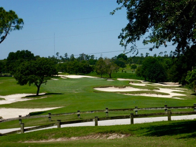 The short par-4 8th, reachable from the correct tees, gives a sense of the character of The Deltona Club's property.