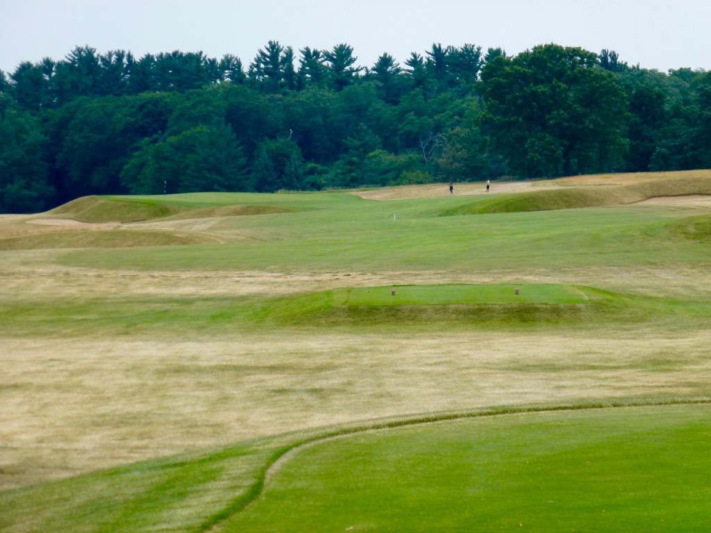 The rolling par-5 18th punctuates a tour through the grassy field of the second nine, and also one of the most joyous rounds you're likely to find in Wisconsin.