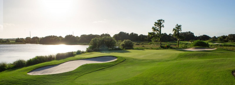 The tough par-3 15th touches the most interesting and natural parts of the property.