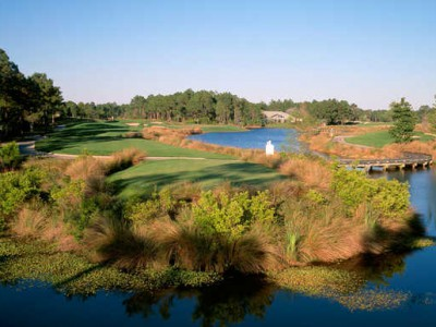 The tough par-3 4th is the first of six diverse and quite interesting one-shot holes at The Raven. (photo: sandestinraven.com)