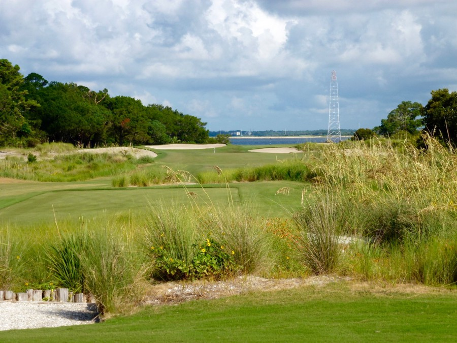 Seaside's par-4 11th, heading straight out toward St. Simons Sound, pulls the South Georgia grasses and natural vegetation into the hole in the form of dunes.