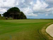 Seaside's 5th green is just one of many set against the Intracoastal marshes and St. Simons Sound.