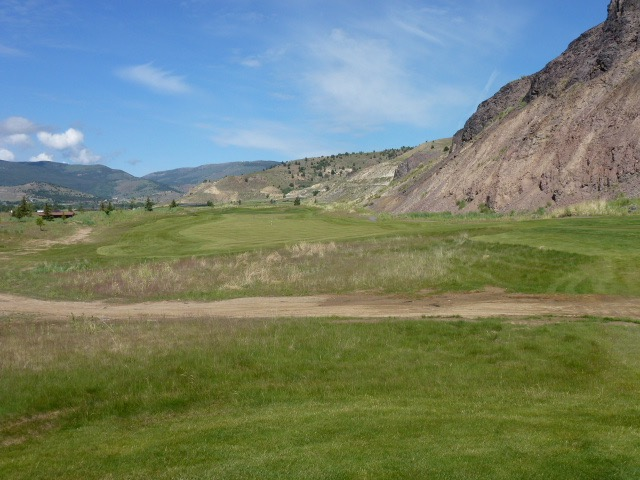The 12th fairway runs parallel to the foothills where two smelting furnaces used to operate.
