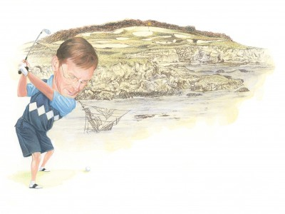 Artist Greg Douglas brilliantly portrays the challenges presented by the Legends at Lionhead.
