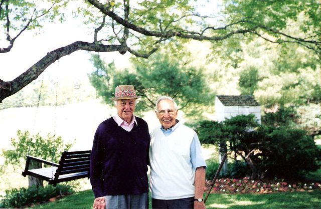 The late, great Sam Snead, left, with Lewis Keller at Oakhurst