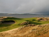 The par-3 eleventh hole at Castle Stuart