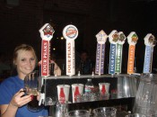 Kolbee Feese at the taps at Four Peaks