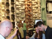 Beer tasting by the Kohler Design Center's Great Wall of China