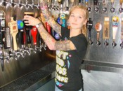 Melody Pierce fills a pint at Toronado San Diego