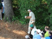 The debacle at the fourth hole (Getty Images)