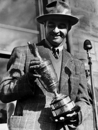 Sam Snead holding the 1946 Open Championship Claret Jug