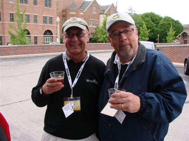 TAP writers Tom Harack (left) and Herb Gould sampling some of Herb's homebrew. A homebrew competition is part of the 2013 Festival.
