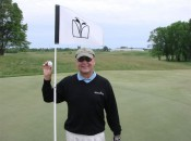 TAP writer Tom Harack after his ace on the third hole at Meadow Valleys