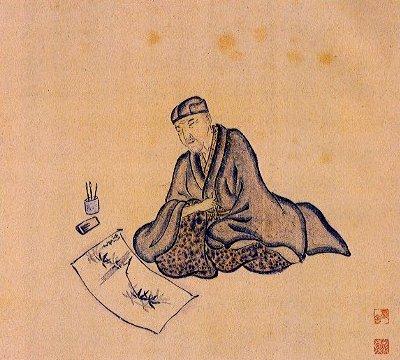Basho composing a haiku