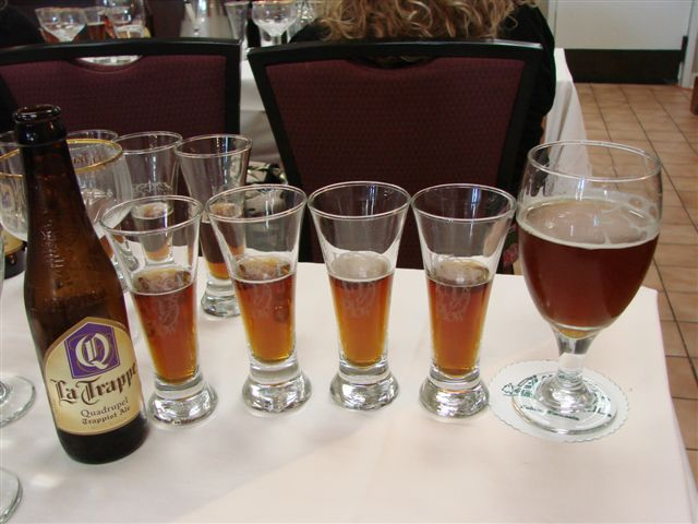 La Trappe oak-aged Quadrupels and the base beer