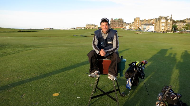 Oliver Horovitz on the Old Course (photo by Greg Savidge)