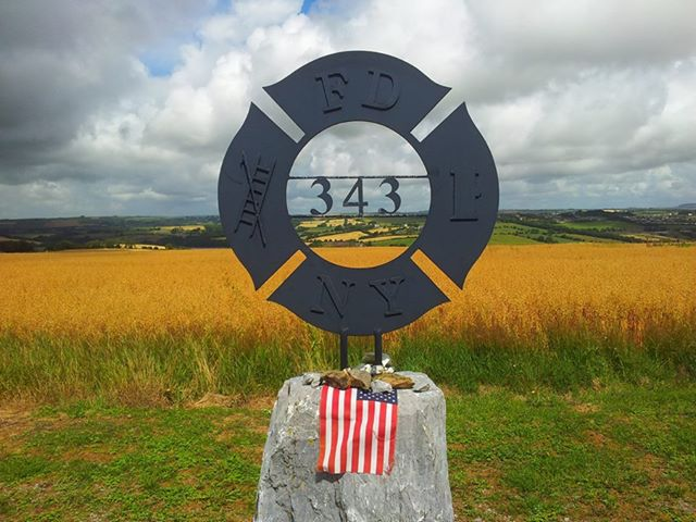 The Ringfinnan Garden of Remembrance in Kinsale, County Cork, Ireland, is dedicated to the memory of the 343 firefighters who lost their lives in the 9/11 attack.