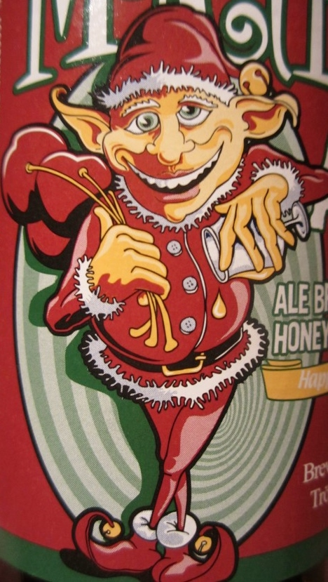 Mad Elf Ale label