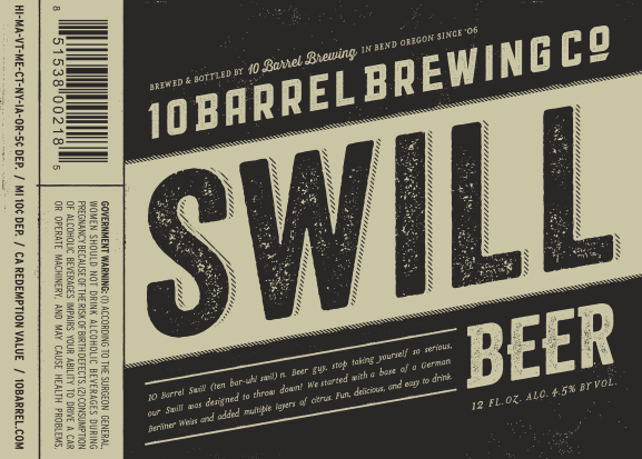 10 Barrel Brewing Swill Beer