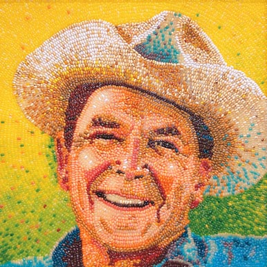 Ronald Reagan jelly bean portrait