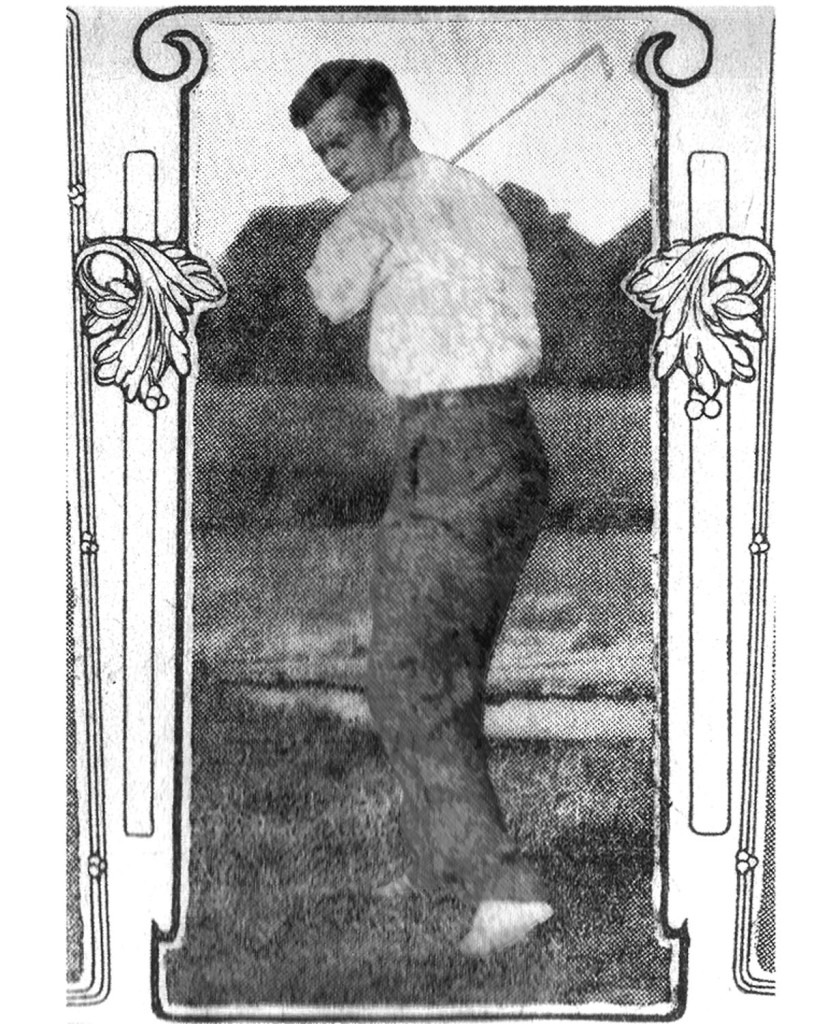 Stiles qualifying for the MA Amateur at Essex CC circa 1904.