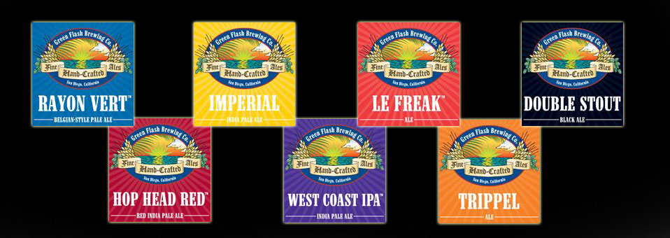 Former Green Flash labels