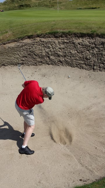 Fun in the bunker, hole 11