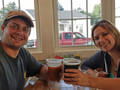 Bill and Melissa Goldfarb at Wildwood Barbeque